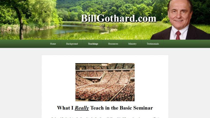 Bill Gothard's New Website