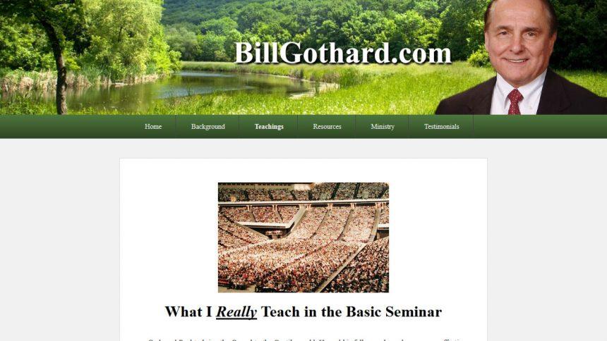 Bill Gothard's New Website