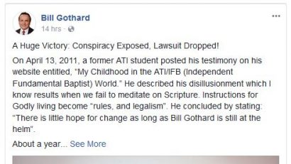Bill Gothard lawsuit announcement