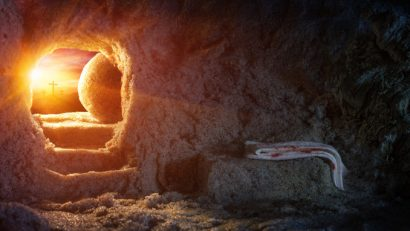 Jesus' tomb is empty. The stone is rolled back!